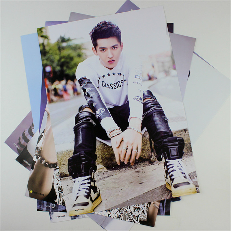 8*(42x29cm)EXO Kris Wu Yifan poster Wall Stickers Korean celebrity birthday gift wallpaper EXO(China (Mainland))