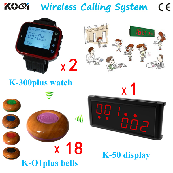 Easy To Use Button Call K-236+K-300plus-red+K-O1plus-purple For Restaurant Wireless Pager System(China (Mainland))