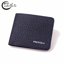Ultra-thin Chequer Delicate Men Wallet W147 PU Short Male Purse Card Package Ultra-thin Chequer Delicate Men Wallet Handbags