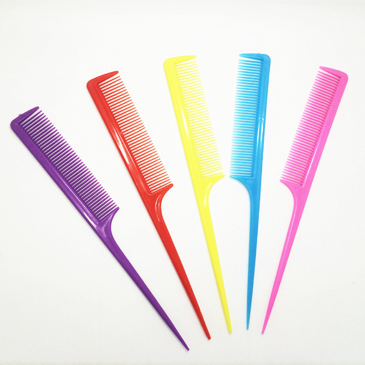 5 Pieces Professional Cutting Comb Hard Plastic Combs Sharp Point End Assorted Color(China (Mainland))
