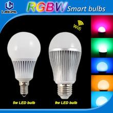 Mi.light e27 gu10 E14 rgbw full colors phone app control 4W 6w 9w  rgbw smart wifi led bulbs WIFI RGB bulb lights(China (Mainland))