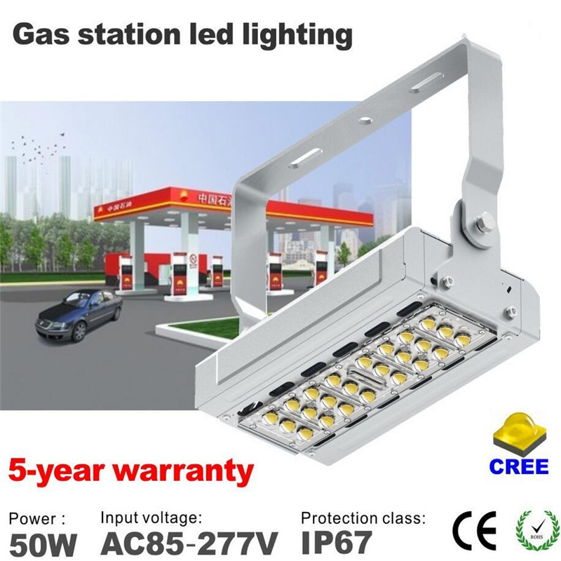 led gas station canopy lights 50w led flood light gas station structure products gas station Cree chip with meanwell driver(China (Mainland))