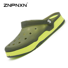 New 2016 Men's Summer Shoes Sandals Breathable Beach Flip Flops Mens Mesh Lighted Shoes Outdoor Slip On Size 39-45