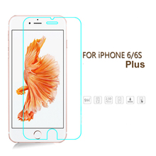 Tempered Glass Screen Protector for iPhone 6/6S plus 5.5 inch Premium Ultra Thin HD Toughened Protective Film + Cleaning Kit