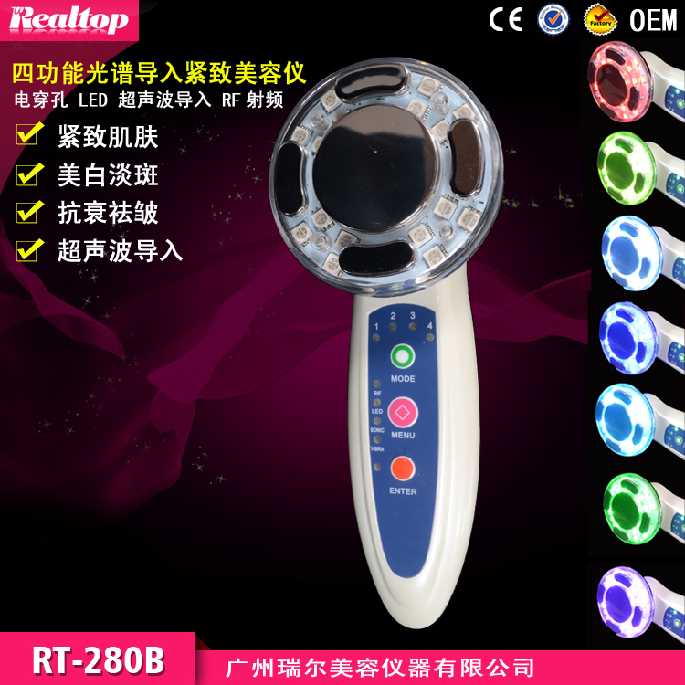 Mini RF Radio Frequency Bio Photon Light Therapy Skin Rejuvenation Microcurrent Face Lift And Body Slimming Beauty Device(China (Mainland))