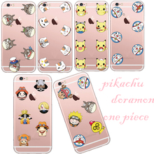 New Soft Silicon Cartoon Case Doramon My Neighbor Totro One Piece Soft Clear Phone Case Cover Skin Shell For Apple iPhone 5 5S