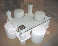 журнальный столик из стекла 8 мм закаленное, 120 * 65 * 43 см