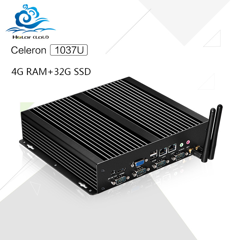 Hot X26-1037G C1037U 4G RAM 32G SSD Mini Pc Ubuntu embedded pc Linux PC Support Win 7 XP System(China (Mainland))