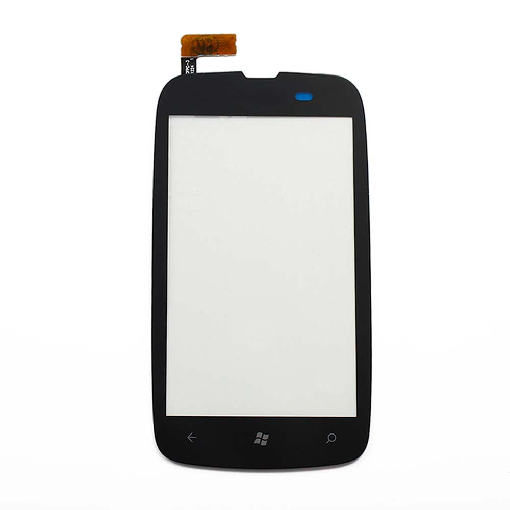 10pcs Tested 100% Original Black Front Touch Screen Digitizer Glass Lens For Nokia Lumia 610 3.7