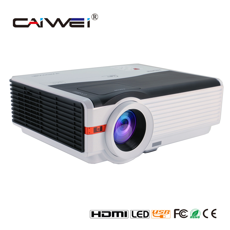 Caiwei Digital Led Projector Home Theater Beamer Lcd: CAIWEI 5000Lumens 1280*800 Native LED Projector For Home