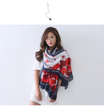 Unique Design Korean Women Girls Scarf Shawl Cotton Sunscreen Scarf Top Quality(China (Mainland))