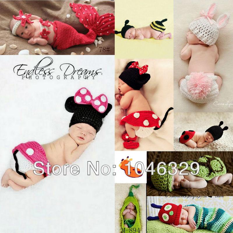 Newborn Baby Girl Boy Handmade Photography Prop Photo Crochet Knit Costume Hat