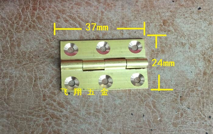 10Pcs 37*24MM Small oval box accessories gold plated hinge 6-hole lace olive hinge(China (Mainland))