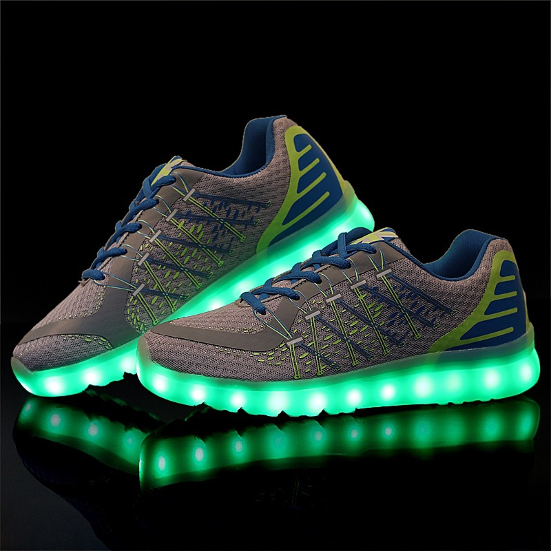 Fashion man casual shoes led shoes 2016 cozy mesh Mixed colors men shoes(China (Mainland))