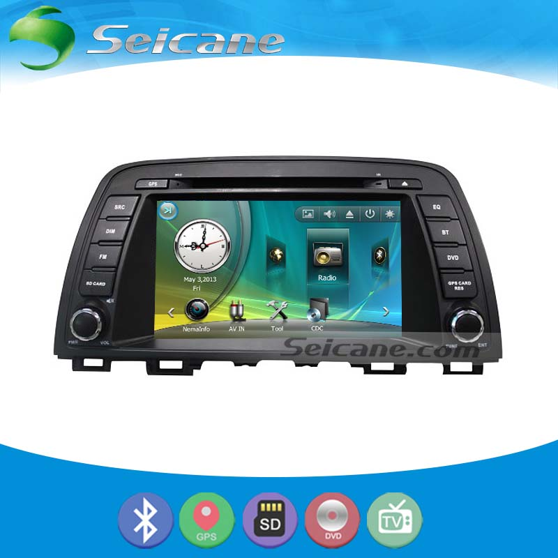 seicane s041186m 8 inch oem navigation system bluetooth for 2012 2015 mazda 6 atenza with touch. Black Bedroom Furniture Sets. Home Design Ideas