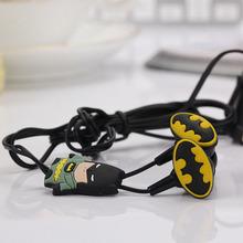 New Cartoon Super Hero Captain America Avengers Earphones Stereo MIC Headphones Headset MIC Pendant QC1299(China (Mainland))