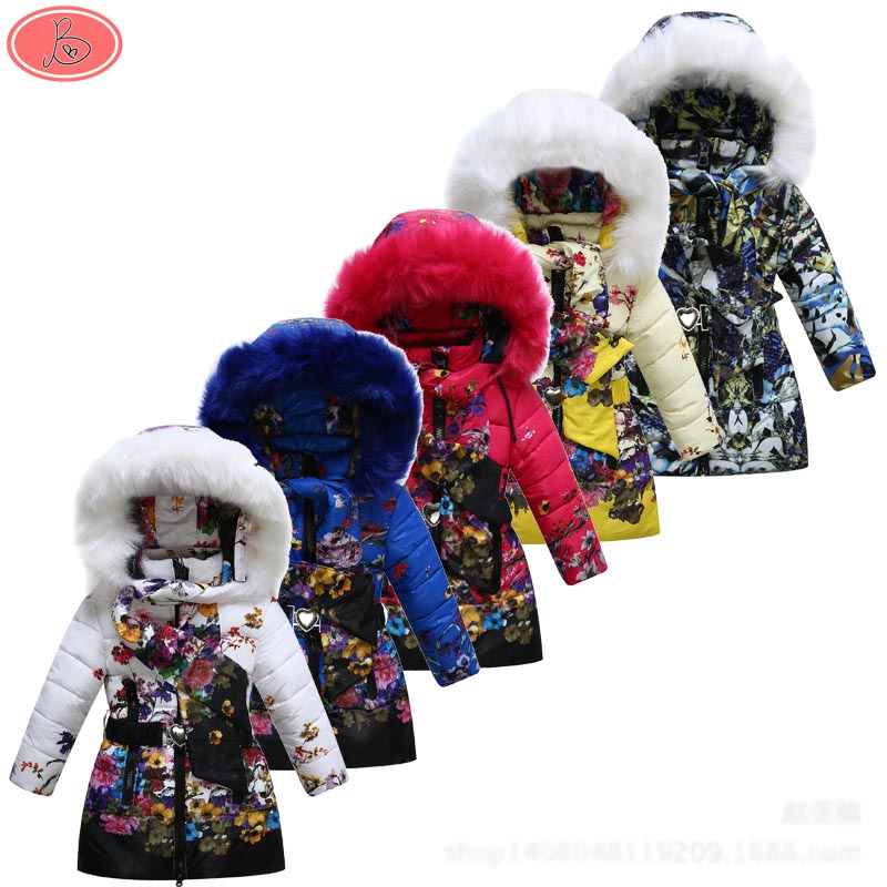 2016 Children/Kids/Toddler Clothes Outerwear Parkas Jackets Snowsuits Girls Cotton-stuffed   Coats Winter Style<br><br>Aliexpress