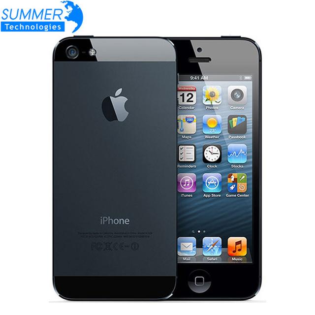 Оригинальный Разблокирована Apple iPhone 5 Сотовые Телефоны Двухъядерный 16 ГБ/32 ГБ 8MP камера 4.0 дюйм(ов) WI-FI GPS 3 Г IOS Используется Мобильный телефон