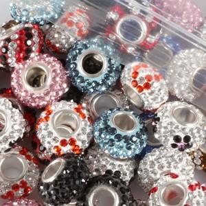 Mix Colors 10 Pcs/Lot 7×12  Austrian Crystal European Austrian crystal Charm Beads Fit  European style bracelet Jewelry