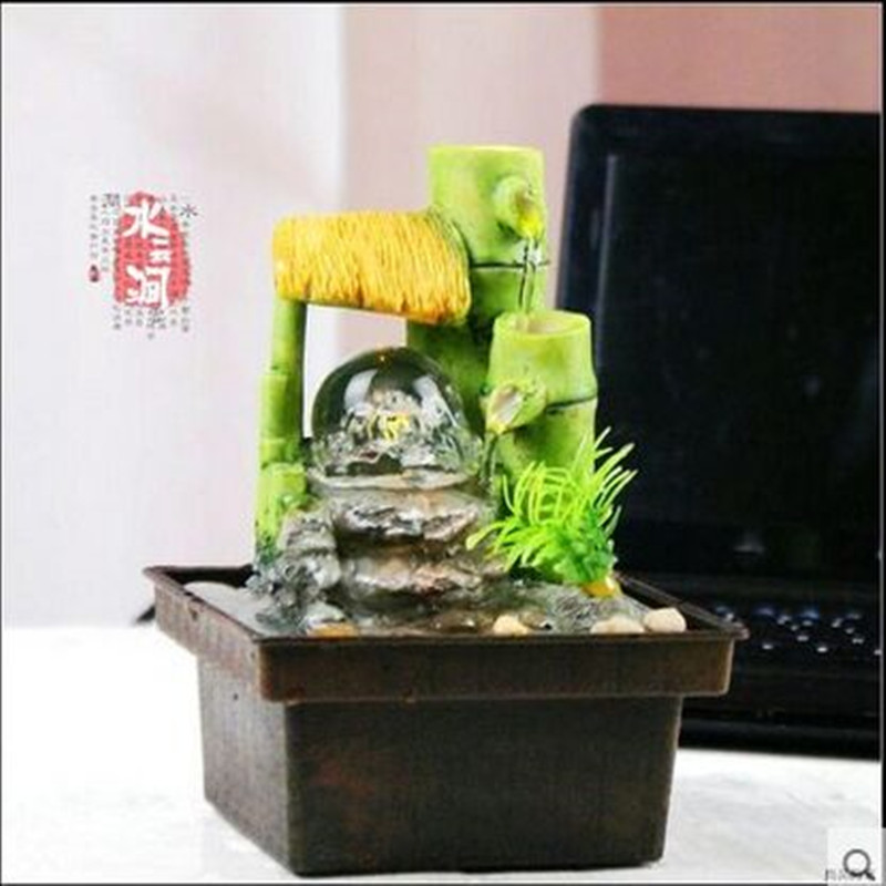 Free shipping Water fountain waterscape decoration round lucky feng shui and home decoration(China (Mainland))