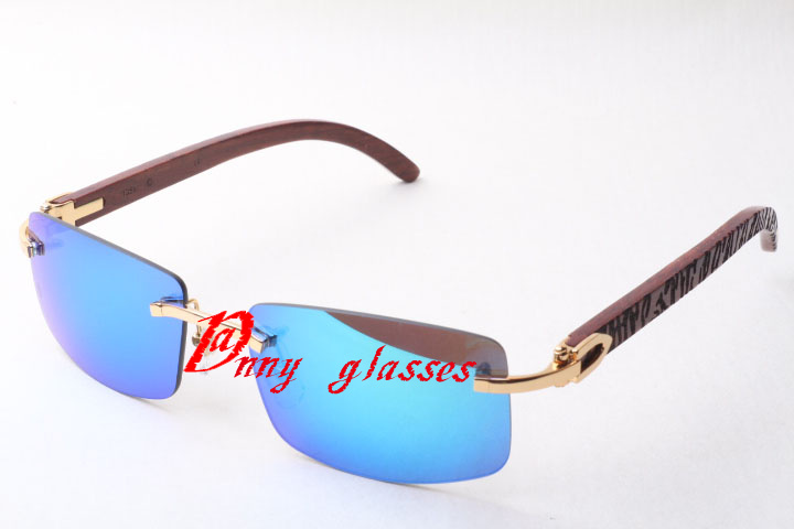 The new blue film lenses, rimless sunglasses male female, high quality wooden sunglasses 3524011 Size: 58-18-135mmОдежда и ак�е��уары<br><br><br>Aliexpress