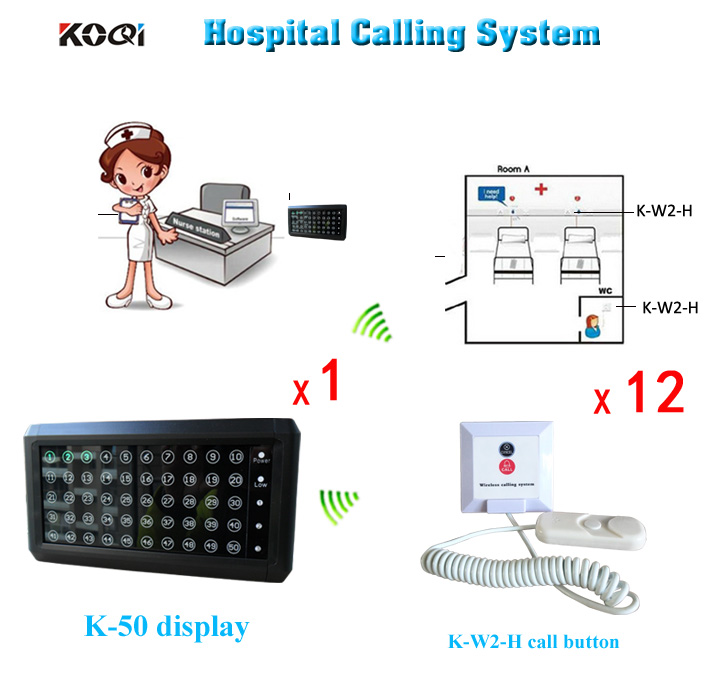 Wireless service calling system.care pager.old person in welfare center 1 nurse station receiver 12 bell buzzer(China (Mainland))