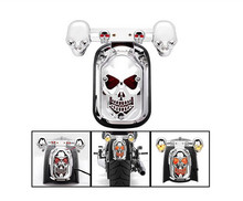 top quality  Motorcycle accessories skull brake and steering integrated taillights, motorcycle taillights, indicator lamp(China (Mainland))