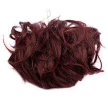 Burgundy Synthetic Hair Scrunchie Dount Buns Hair Bundles Hairpiece Elastic Chignon Hair Bun Extension Chignon