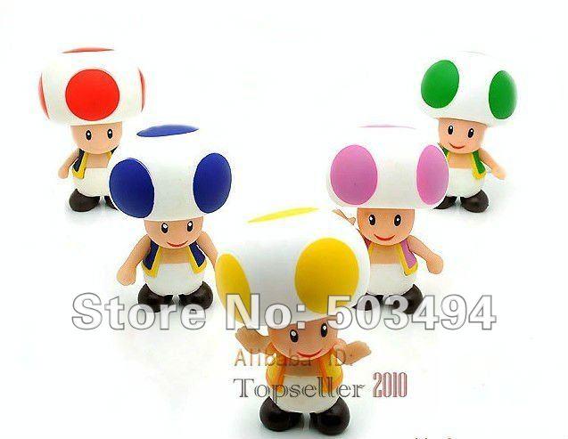 Super Mario Bros Blue Toad 50pcs Super Mario Bros Red