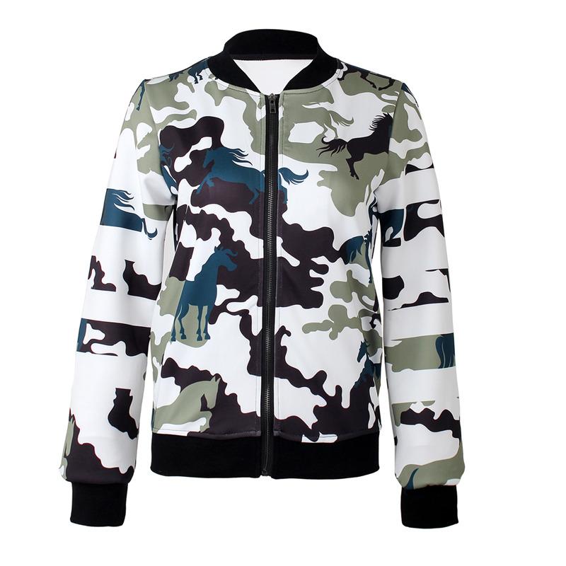 DONOSAME 2016 New Spring Harajuku Jogging Tops Digital Print Camouflage Horse Zipper Placket Women Sweatshirt Hoodie BWCQ1005Одежда и ак�е��уары<br><br><br>Aliexpress