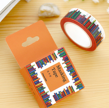 1.5CM Wide Amazing Library Books Washi Tape DIY Scrapbooking Sticker Label Masking Tape School Office Supply H1277