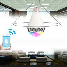 Wireless 12W Phone Control Colorful Music LED Light Bulb Bluetooth Speaker  Portable Music Smart Bulb