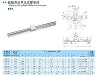 для 2шт sbr25 300 мм линейный подшипник рельсы поддержки + 4шт sbr25uu линейные подшипника