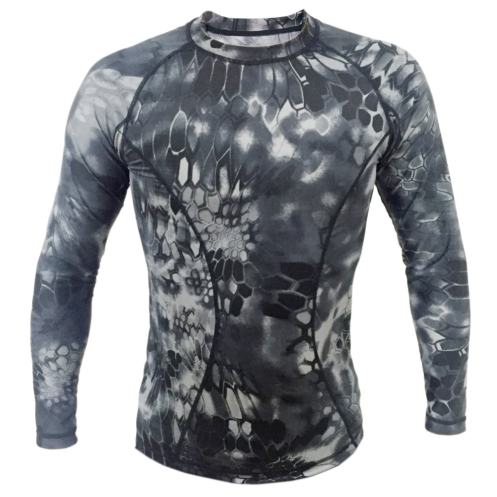 Kryptek tight compression army t shirt typhon long sleeve for Lightweight breathable long sleeve shirts