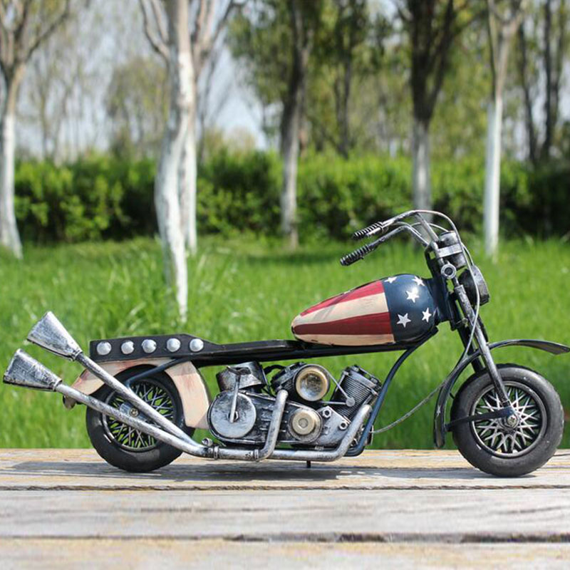 American-style retro iron sheet motorcycle model / tin toys furnishing articles Home Decoration(China (Mainland))