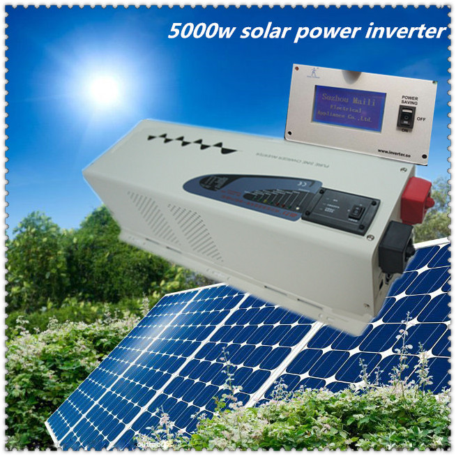 CE,ROHS,ISO9001 Approved, LCD screen 5000 watt dc24v to ac 220v low frequency home use air condition inverter 5000w(China (Mainland))
