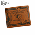 Dollar Design Fashion Men Wallet W009 Multi function Male Money Clip Short High grade PU Leather