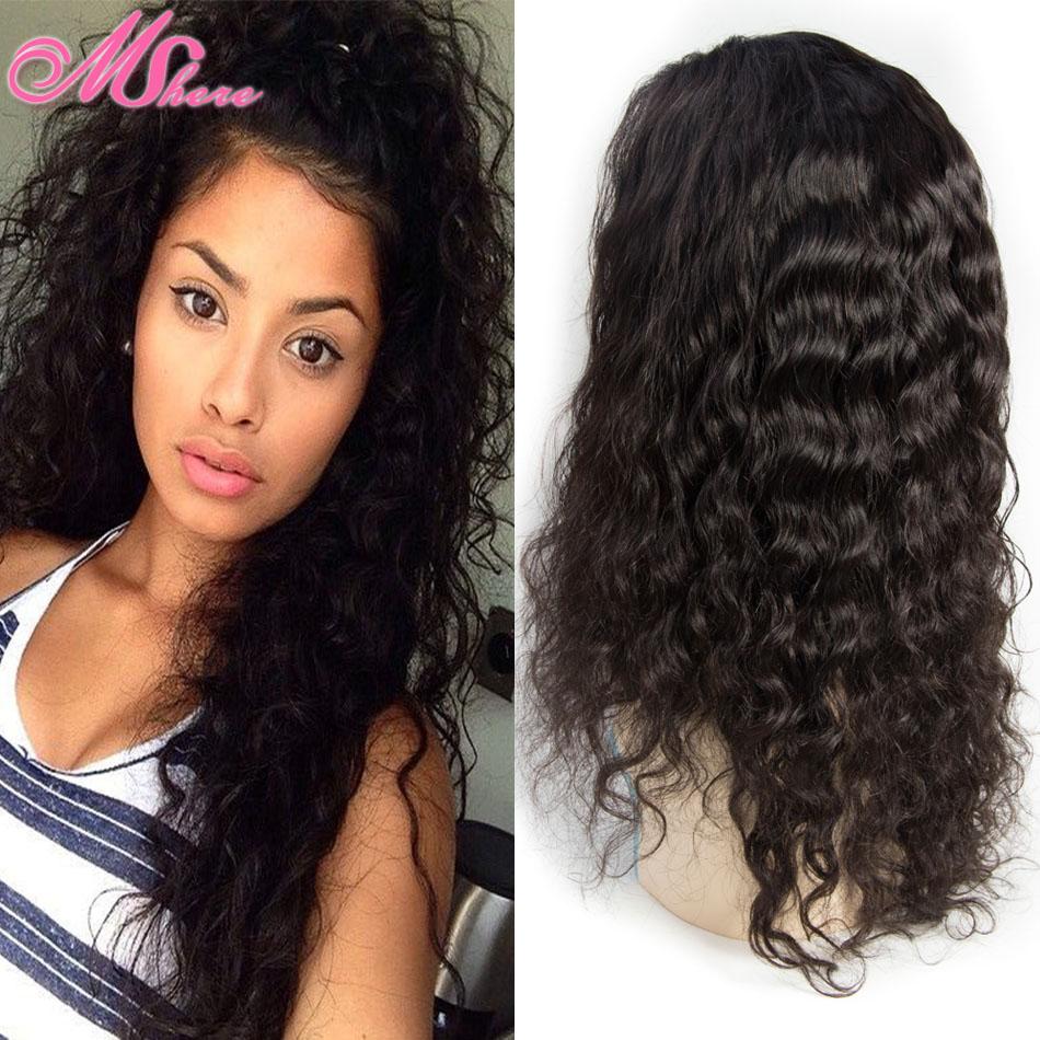 Gluseless Full Lace Frontal Wigs Brazilian Water Wave Wig 7A Brazilian Hair Water Wave Wig Unprocessed Virgin Brazilian Hair Wig(China (Mainland))