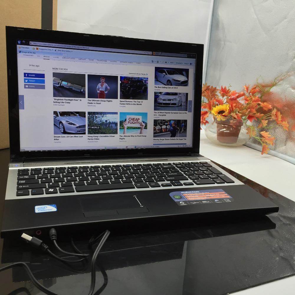 Cheap 15.6Inch Qual Core Laptop with DVD-RW 1037U/J1900 Notebook 4GB +500GB HDD WIFI HDMI PC Computer tablet USB2.0 HDMI 1.99GHz(China (Mainland))