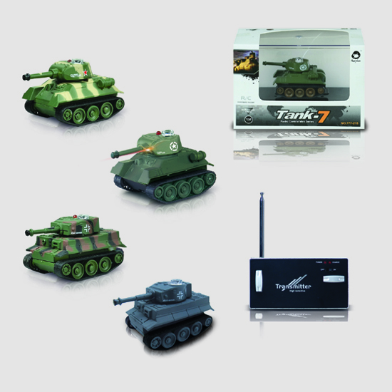 RC Tank Toy Remote Control Tank Mini Rechargeable Battle ...
