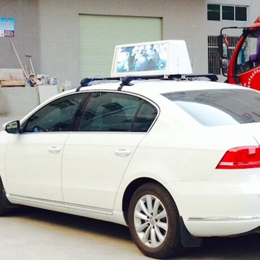 Double sides Waterproof taxi roof led display with P5 LED Display Module Screen size 960*320mm two sides+3G Controller(China (Mainland))