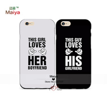 2pcs/Lots Loves Her Boyfriend Duo Lover Phone Cases For Iphone6 6plus Case Cover Valentine's Gift