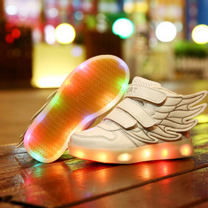 New Spring Children Shoes With Light For Boys Girls Chaussure USB Chaussure Led Enfant Garcon Kids Light Up Lumineuse Sneakers