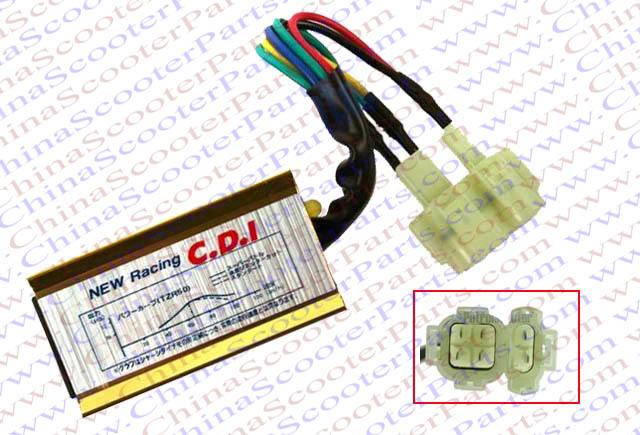 Racing 6 Pin two Oval Plug font b GY6 b font AC Racing CDI Kazuma Jonway
