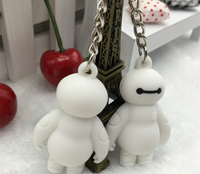 New Hot Movie Big Hero 6 Baymax Dolls Keychain Cartoon Character Figure Doll Toys Key Ring Best Gift For Child