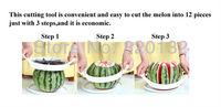 Арбуз дыня арбуз резец розничной торговли из нержавеющей стали нарезать 12 штук плодов среза кухонные инструменты
