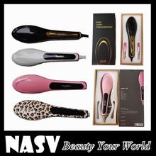 Best Package LCD Dispaly Best Quality Hot Sales Hair Straightener Brush Hair Straightener Comb 100% Original Hair Brush(China (Mainland))