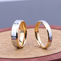 Never Fade 18k Gold Plated 316 Stainless Steel Ring Titanium Steel Engagement Wedding Ring