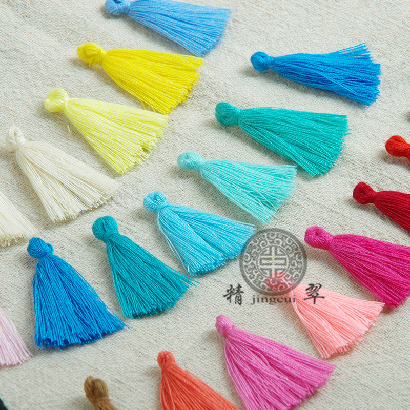 Pure green mini cotton small tassel order DIY accessories pendant manufacturers selling(China (Mainland))
