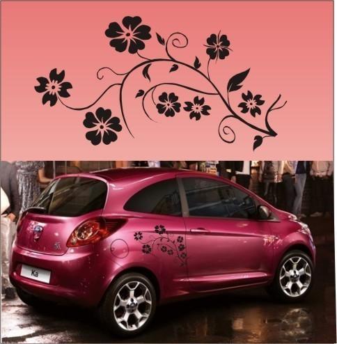 2x flor de vinilo gráficos de coches, pegatinas, calcomanías U003 ...